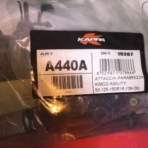 Attacchi parabrezza per Kimco Agility 50/125/150R16 (2008/2009)